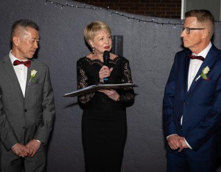 Pauline Fawkner Celebrant – Peter & Tim