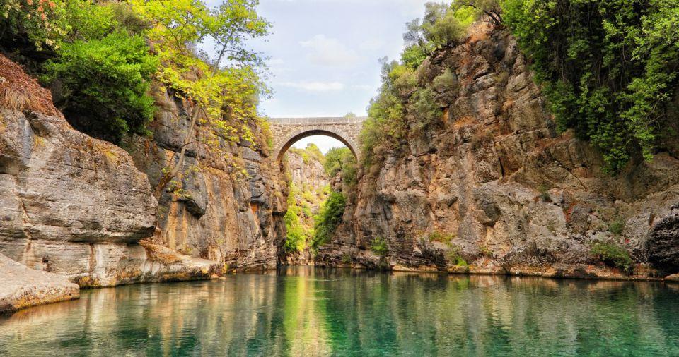 Antalya Boating in the Bridge Canyon of Manavgat River in Antalya Turkey