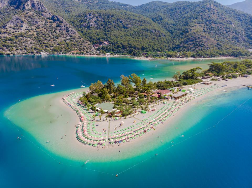 Bodrum Oludeniz beach from Fethiye Turkey