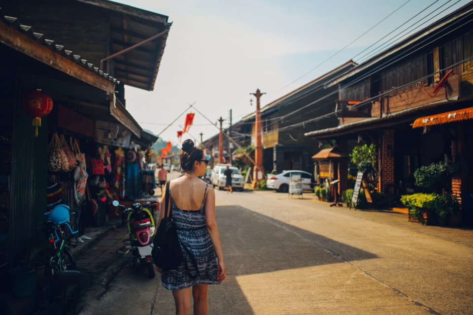 Old Town of the Koh Lanta Island Thailand